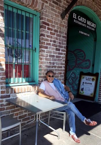 ニューオリンズでのカフェで。